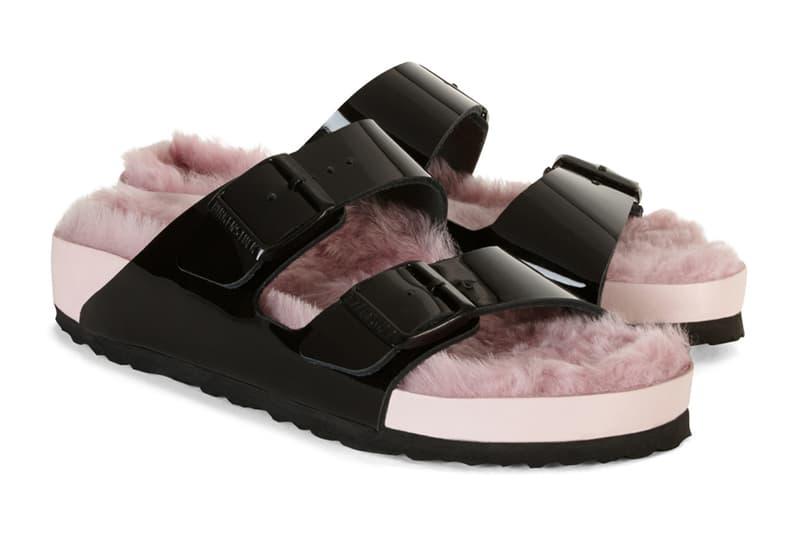 Barneys Birkenstock Pink Shearling Fur Arizona Sandal New York Pop Up 2017