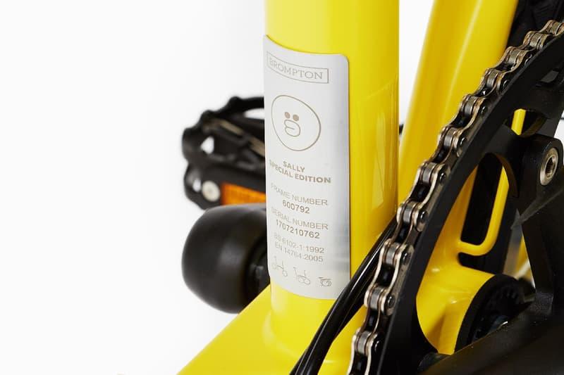 LINE FRIENDS BROMPTON Bike Bicycle Sally Character Messaging App Cute Folding Yellow Orange Korean