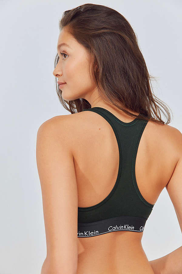 1151978e7ea Calvin Klein Racerback Bralette Bra Underwear Urban Outfitters Sport  Athletic Lingerie Grey Olive Tie Dye