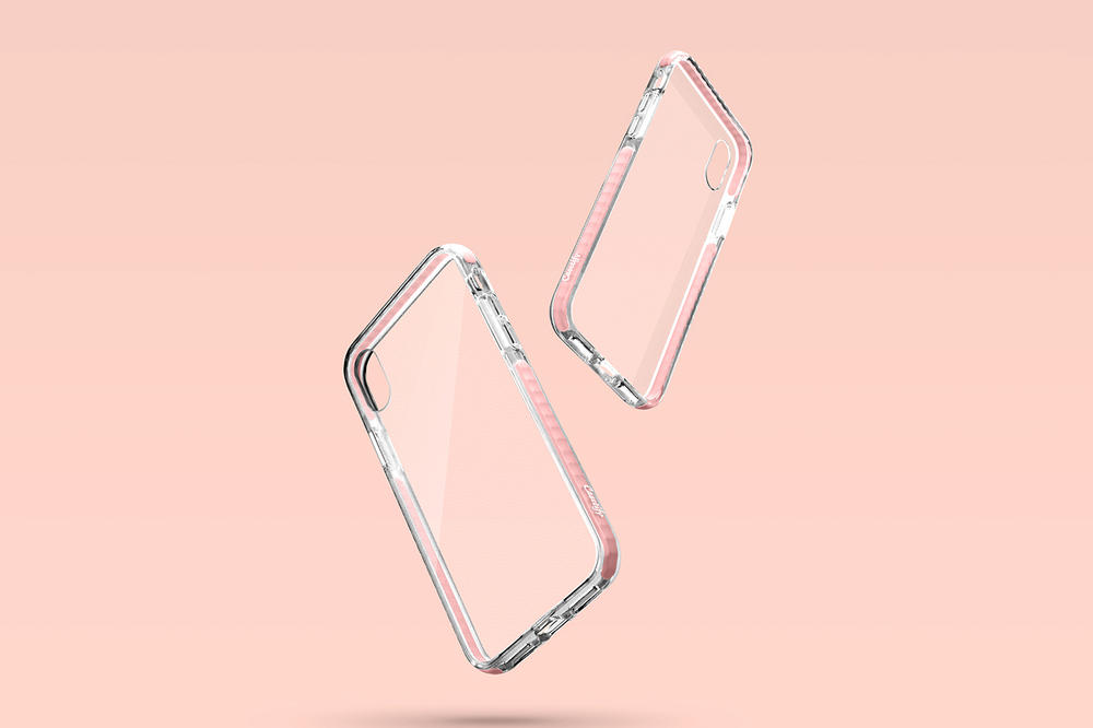 Casetify iPhone X Impact Grip Case Pink