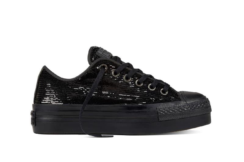 Converse Chuck Taylor All Star black copper sequin platform sneaker