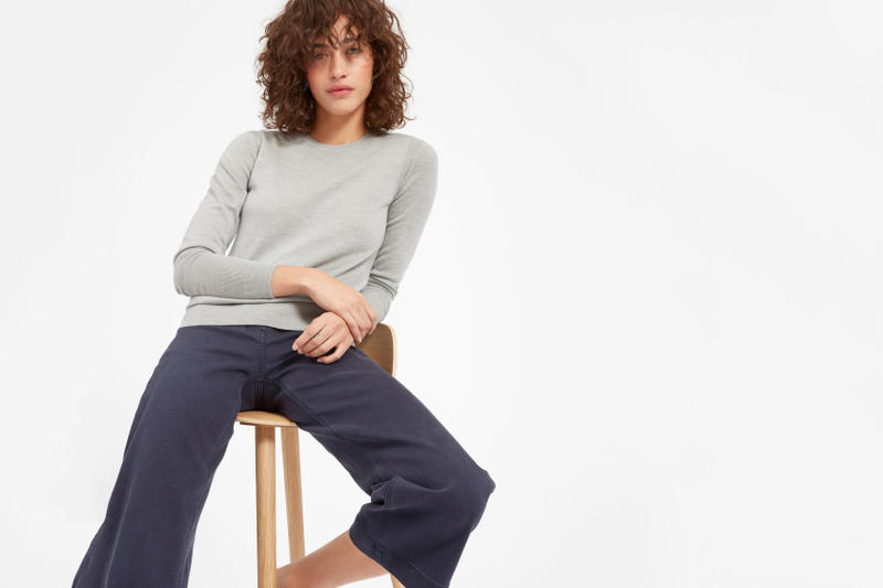 Everlane Luxe Wool Collection Fall Cozy Knit Merino Wool Color V Neck Mock Neck Turtle Neck Soft Warm