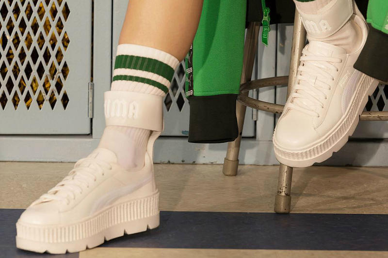 Fenty PUMA Rihanna White Ankle Strap Creeper September 28 2017 Fall Winter Release Date