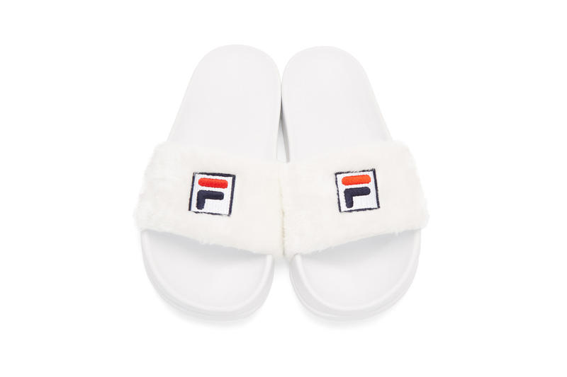Fila Baja East Slides Shoes Slippers Textile Sherling Color Red Blue Navy White Gold Sporty Comfortable