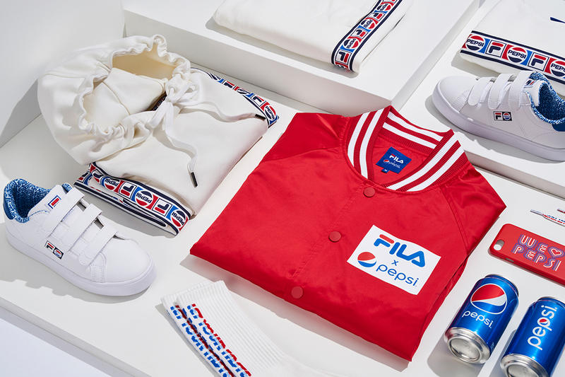 4e488cfa58712 Pepsi FILA Korea Heritage Collaboration Season Two Cap Bucket Hat  Sweatshirt Hoodie Sweatpants Socks Phone Cases