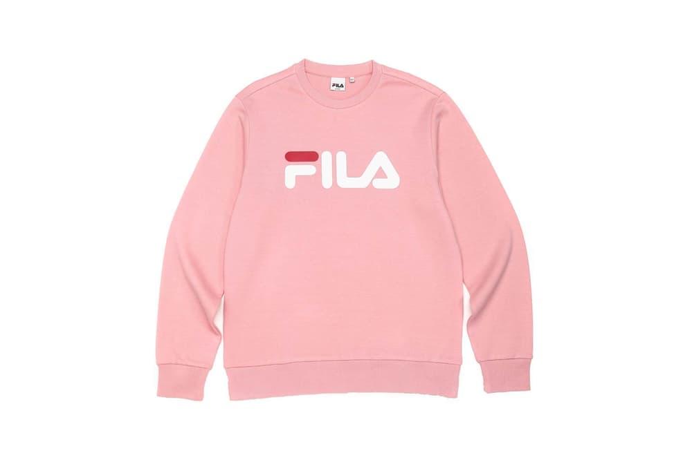 FILA Linear Logo Sweatshirt Salmon Pink