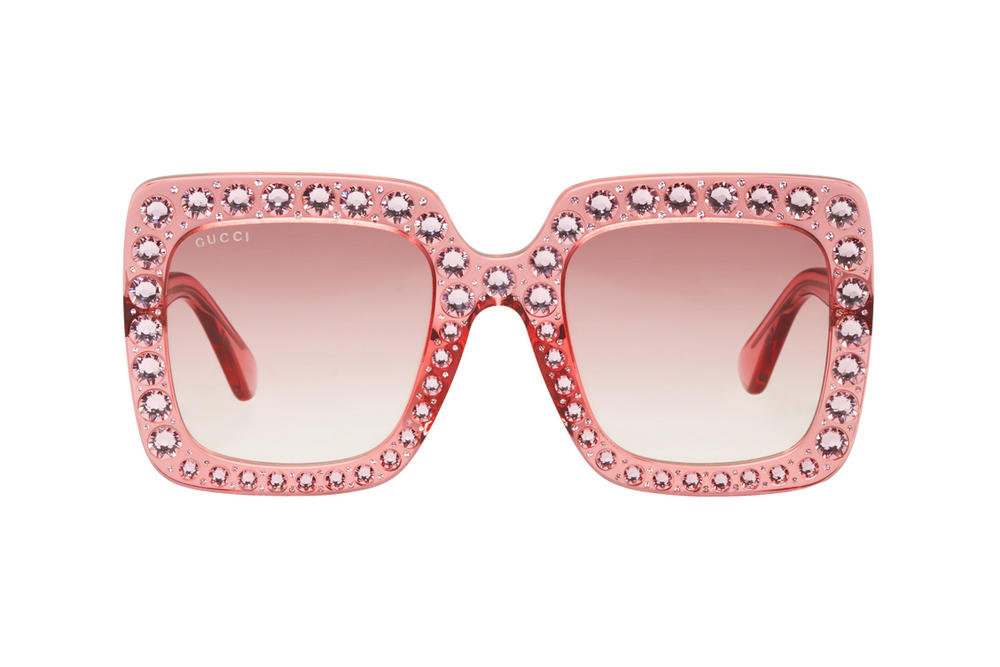 Gucci Pink Oversized Crystal Frames
