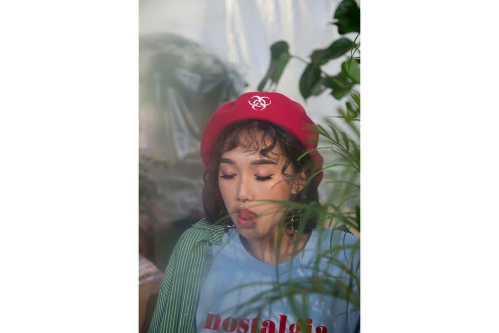 IAMKARENO Karen Yeung UMO Style Drop 2 Lookbook Collection Nostalgia T-Shirt Beret