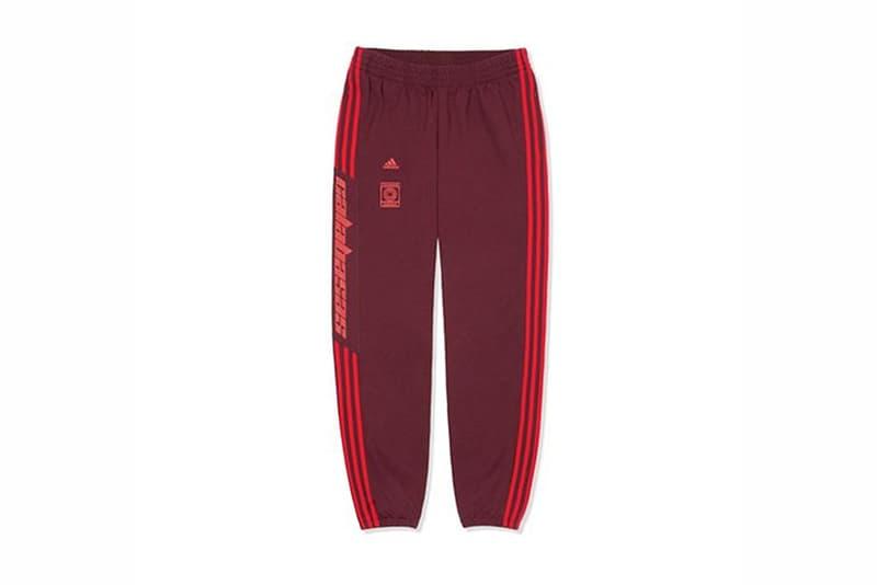 Kanye West adidas Originals YEEZY Calabasas Track Pant Scarlet Red Black