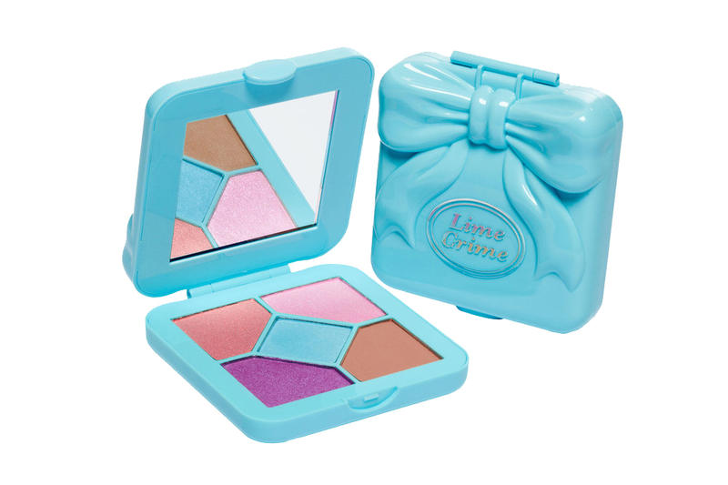 Lime Crime Makeup Polly Pocket Cosmetics Eyeshadow Pocket Candy Colors Pink Yellow Blue 90s Throwback Childhood Toy