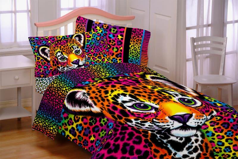 Lisa Frank Beddings Walmart Pillow Duvet Cover Set Rainbow Throwback Childhood Hunter Cheetah Leopard