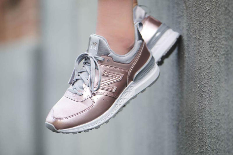 7c787444ea New Balance 574 Stays En Pointe in Rose Gold | HYPEBAE