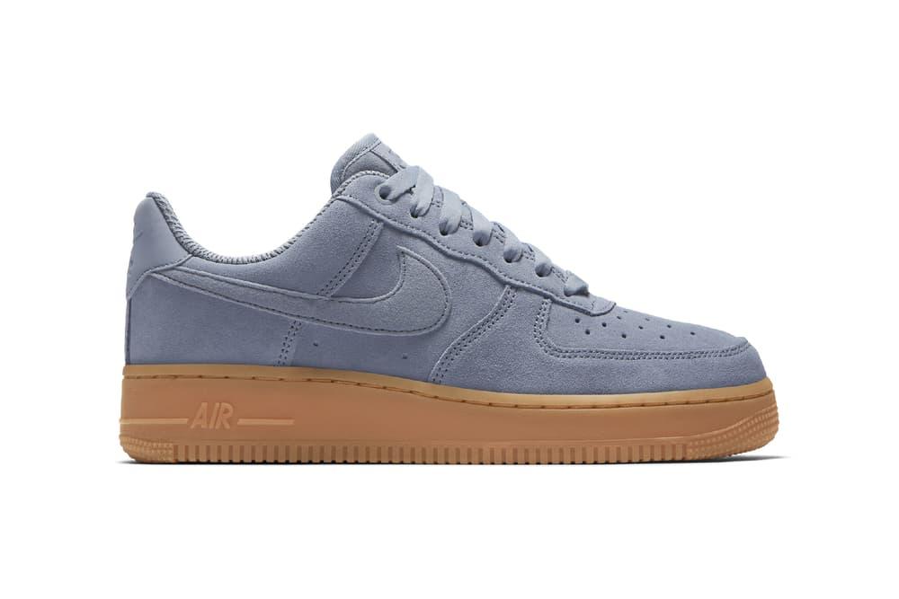 wholesale dealer b8a7d 71e07 Nike Womens Air Force 1 low glacier blue pastel suede