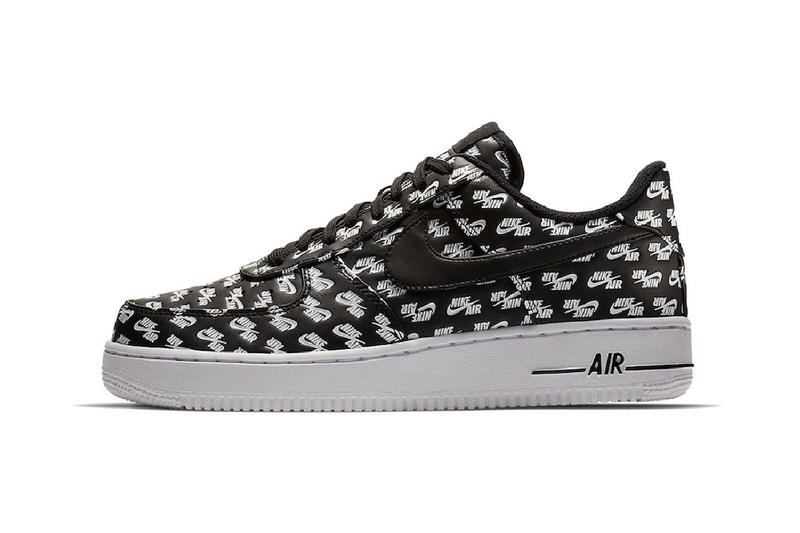 Nike Air Force 1 low logo print pack red black white