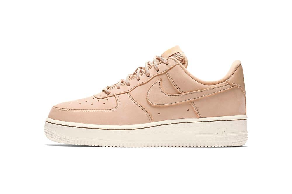 f79c681a109035 Nike Air Force 1 07 Pinnacle Bio Beige Gets Gold