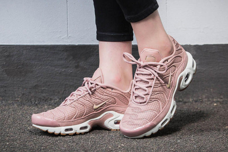 ff230228db ... The Women s Nike Air Max Plus LX In Gunsmoke Is A Dream In Suede Nike  Air Max Plus Soft Pink Millennial Pink Sneaker Retro Classic Iconic Swoosh  Trainer ...