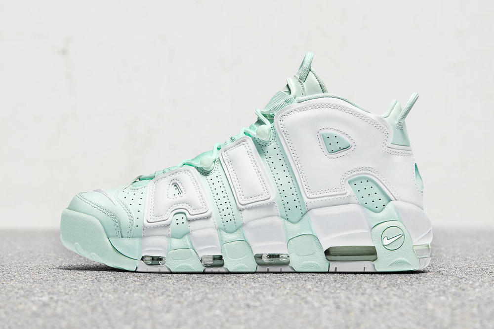 "0e114869207e Nike s New Air More Uptempo Is a Dreamy Fall Mint. It s ""Barely Green."""