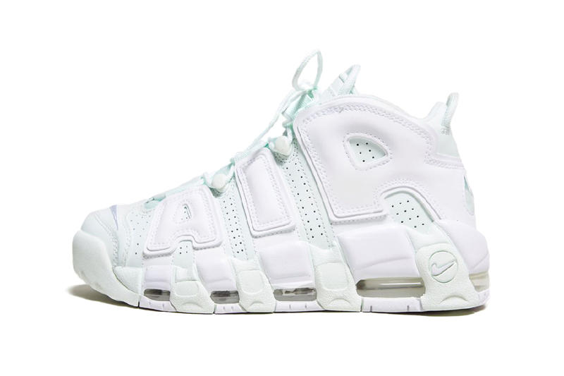 Nike Air More Uptempo womens ladies mint light pale green