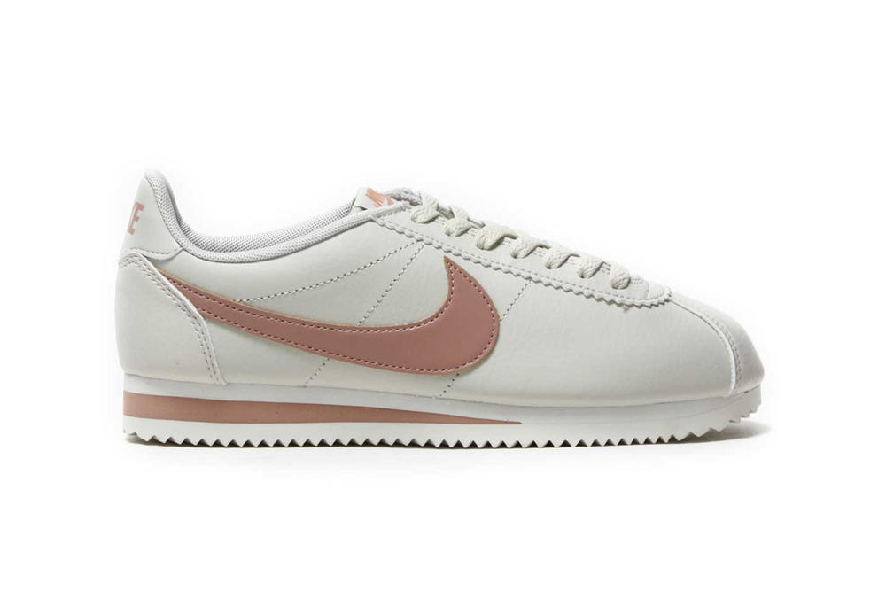 brand new ced1c b5534 Nike Classic Cortez Leather Light Bone Particle Pink Pastel Millennial  Summit White