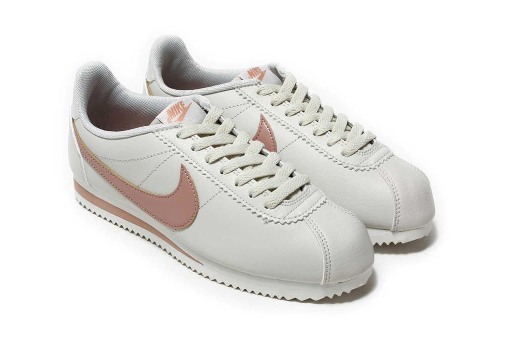 Nike Classic Cortez Leather Light Bone Particle Pink Pastel Millennial Summit White