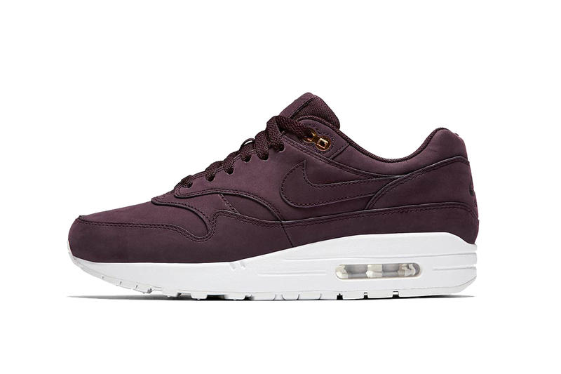 Nike Air Max 1 Shoe Sneaker Burgundy Olive Beige Runner Classic Iconic Silhouette