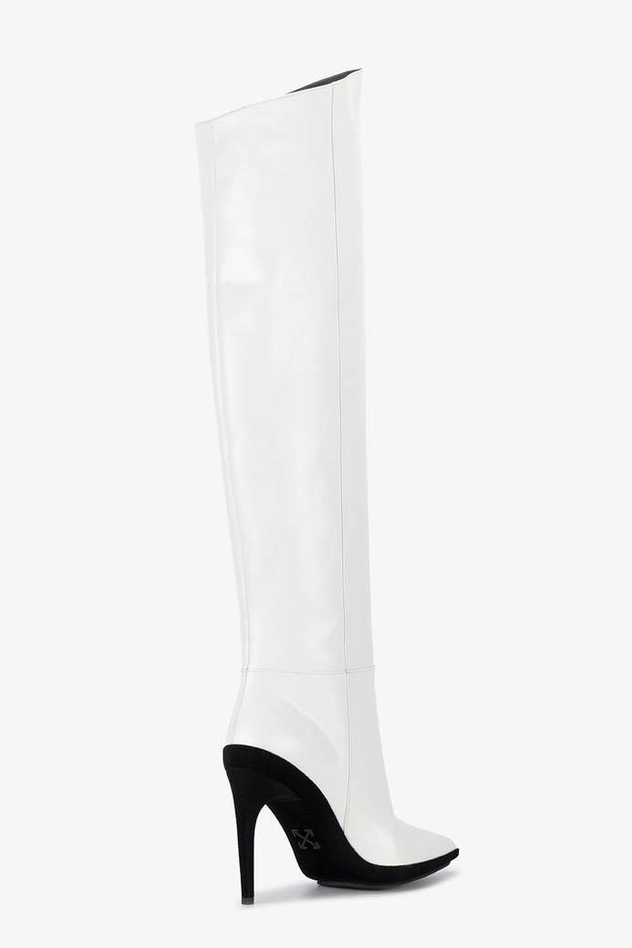 Off-White™ FOR WALKING Knee High Boots White