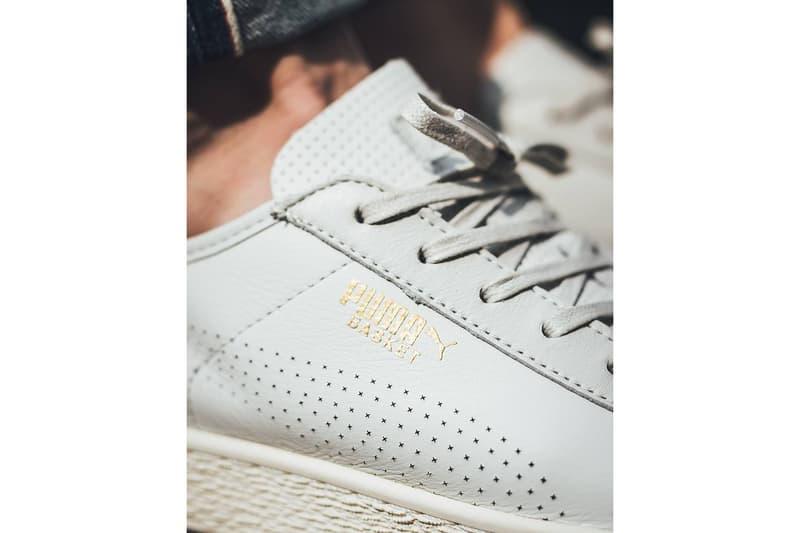 PUMA Basket Classic Whisper White Retro Minimalistic Sneaker Shoe Silhouette
