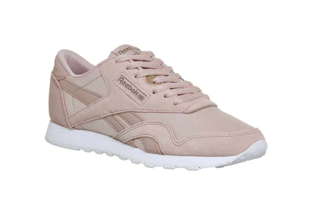 Reebok Classic Nylon Shell Pink Rose Gold Satin Pastel Sneaker d4c0dbb7e12d