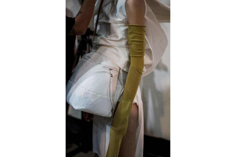 Rick Owens Spring Summer 2018 Backstage Show Photography BTS Behind The Scenes Paris Fashion Week Michele Lamy Social Commentary