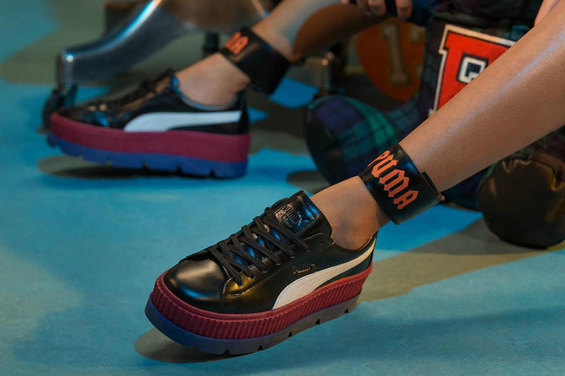 47506d70b3efc Fenty PUMA by Rihanna Ankle Strap Creeper Black Red Blue Orange September  28 Release Date 2017