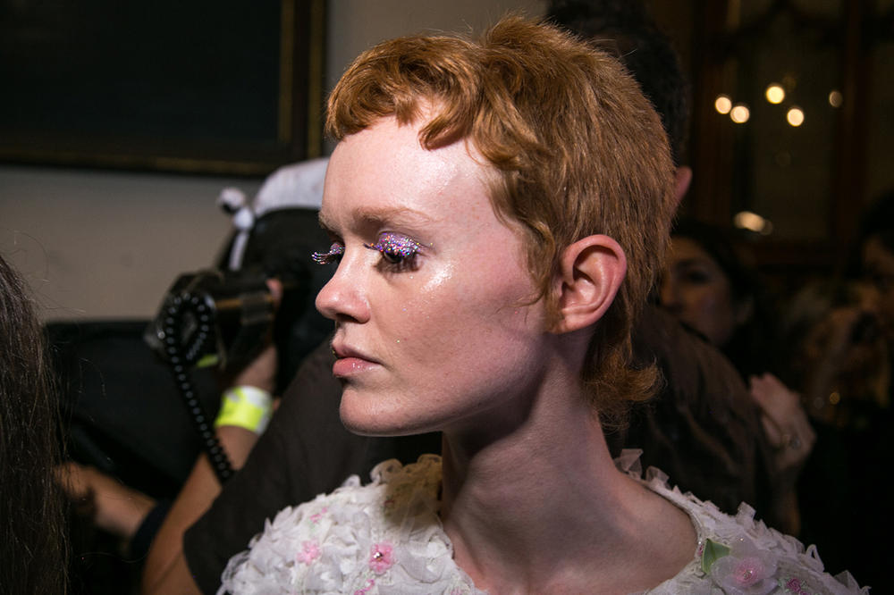 Ryan Lo London Fashion Week backstage spring summer 2018