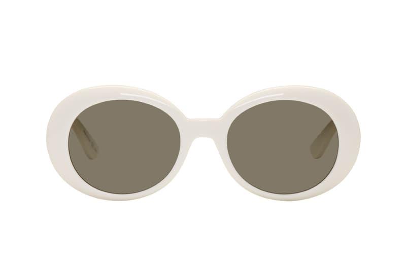 29fea66e81 Saint Laurent California Sunglasses Ivory White Retro Chic Vintage Round  Black Minimal YSL Anthony Vaccarello
