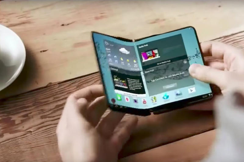 Samsung Phone iPhone X Folding Screen Technology Smartphone Development Video