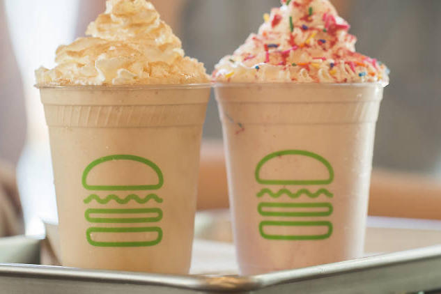 Shake Shack Prosecco Milkshake Burger Place Food Restaurant