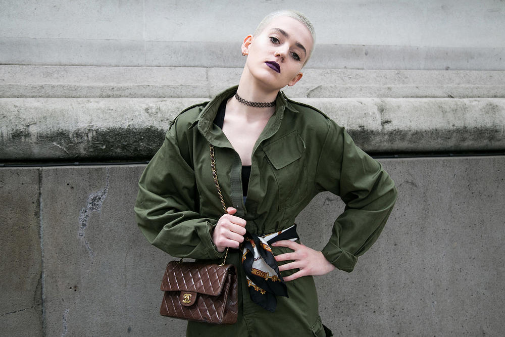 london fashion week lfw streetsnaps gucci chanel stone island umbro virgil abloh