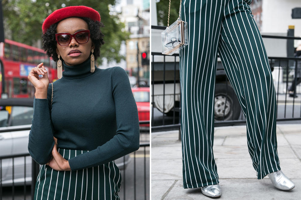 London Fashion Week Street Style streetsnaps off-white gucci moncler nike