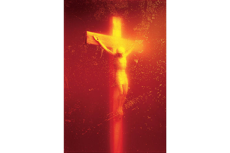 e79530631 Supreme Andres Serrano Collaboration Controversial Piss Christ Madonna And  Child Blood And Semen Vans Sk8-