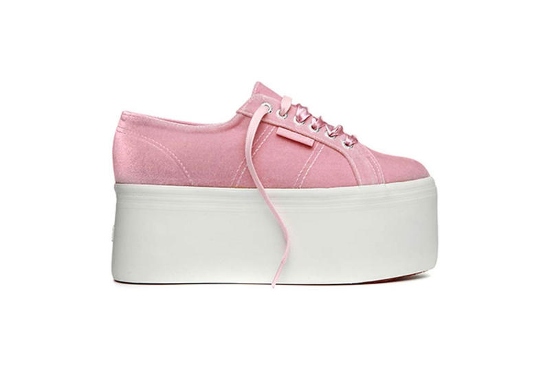 The Blonde Salad x Superga Velvet Pink Lilla White