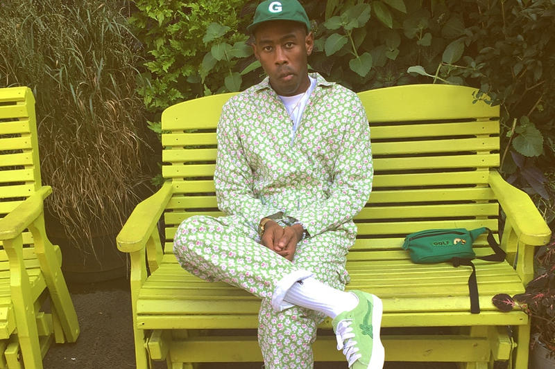 Tyler The Creator GOLF Le Fleur Sneakers Tease Instagram Bright Green Silhouette