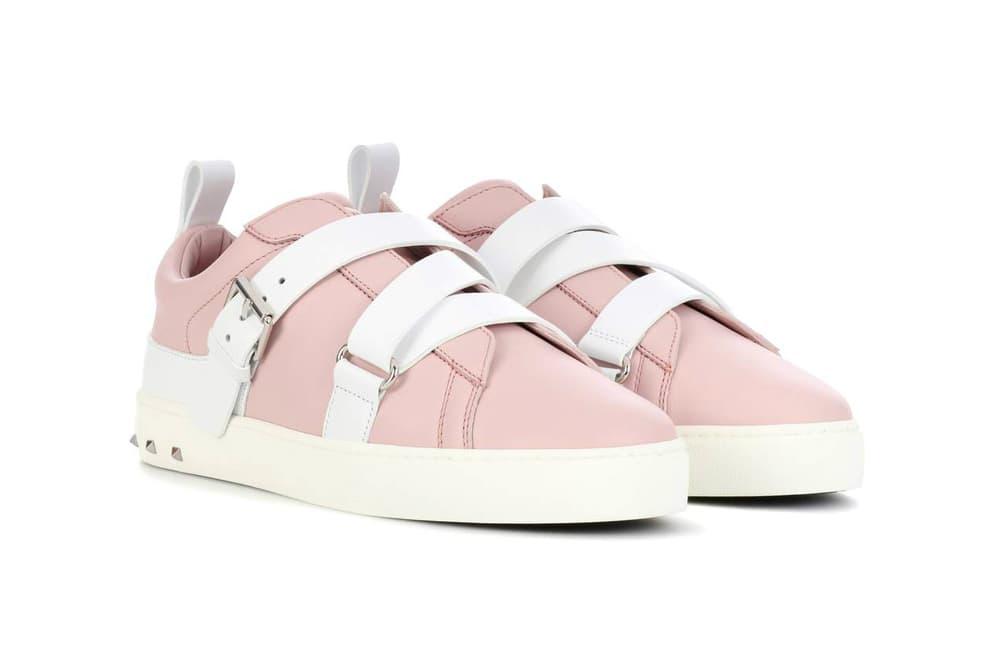 Valentino Garavani Rockstud Leather Sneakers Pink
