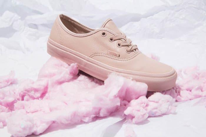 vans pastel leather pack pink mint minimalist