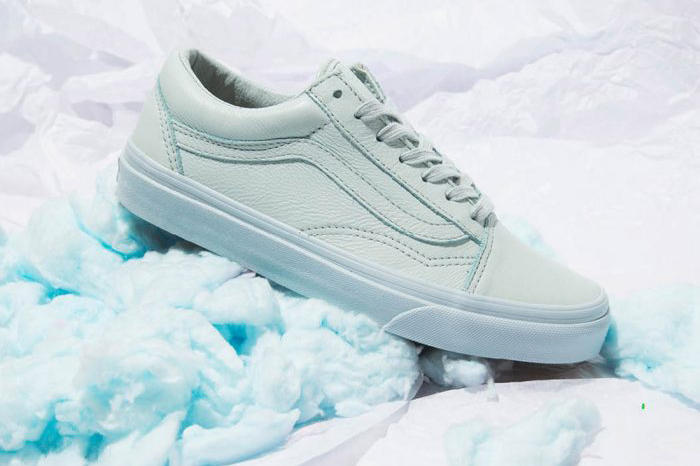 vans pastel leather pack pink mint minimalist