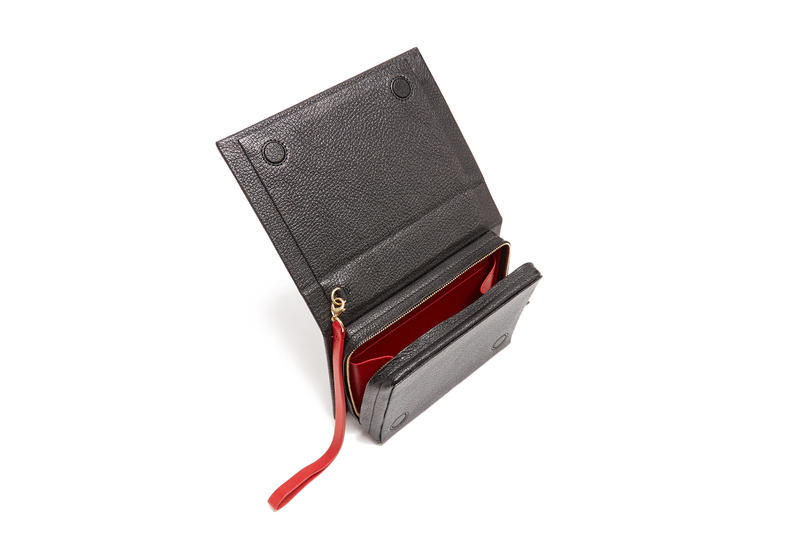 Vetements Ulrich Leather Book Clutch