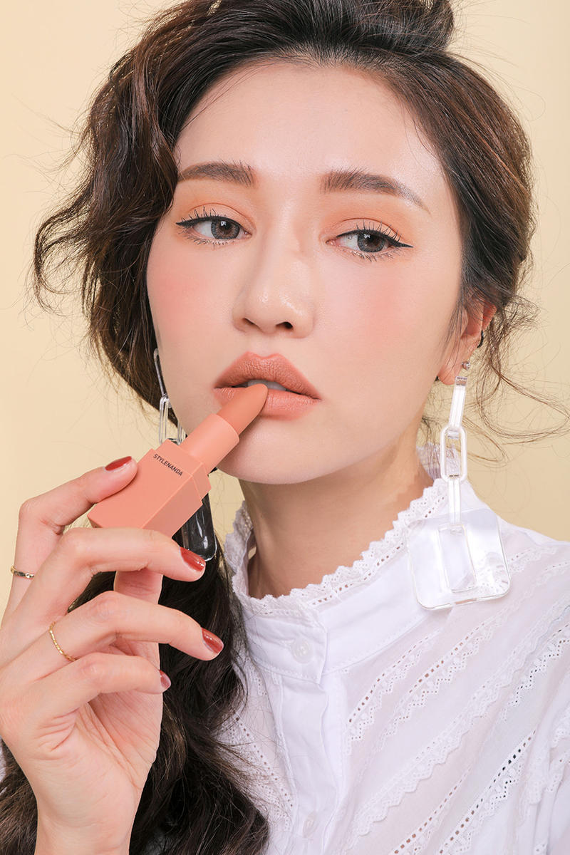 3CE Mood Recipe Makeup Collection Lipstick Eyeshadow Palette Blush Nude Pink Red Orange Coral STYLENANDA Korea K-beauty