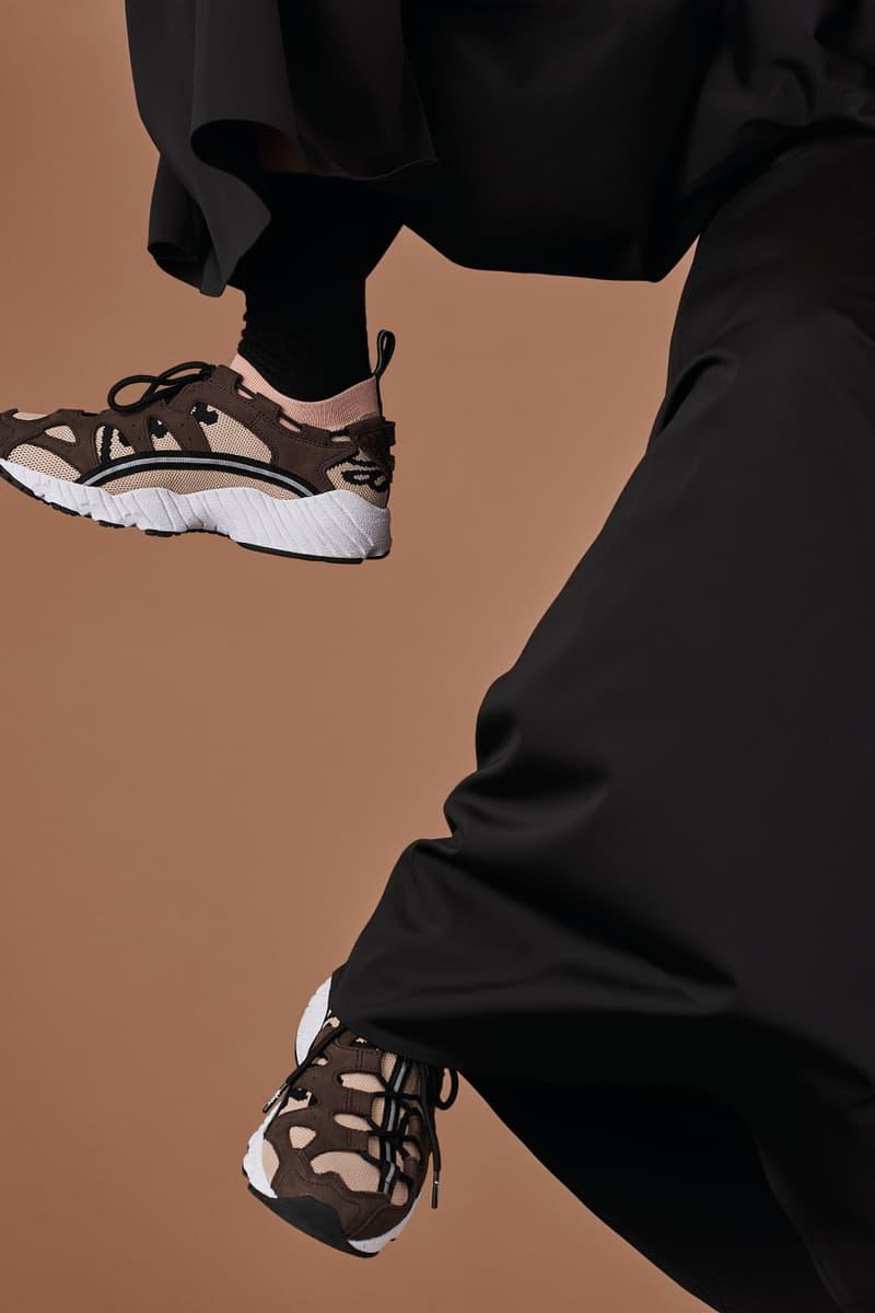 ASICSTIGER x Patta GEL-MAI Knit Shoe Sneaker Silhouette Collaboration Nubuck Tonal Laces Soles Technology Rose Cloud Brown