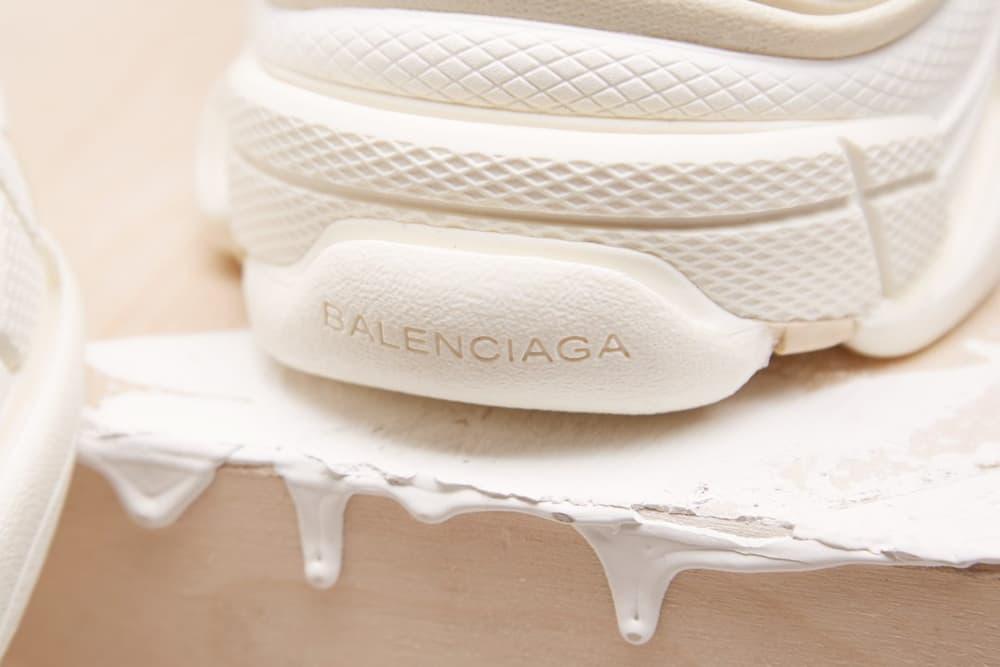 "Balenciaga Triple-S Runner ""Creme"" Colorway Sneaker Shoe Hype Popular Silhouette Demna Gvasalia"