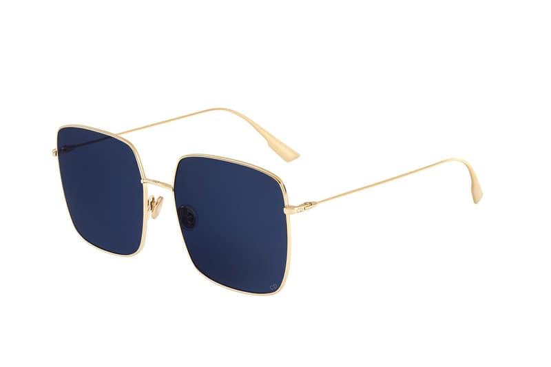 Dior Maria Grazia Chiuri Stellaire Sunglasses Silhouette Shades Pink Blue Green Silver Frames Big Metal Square Campaign Timeless