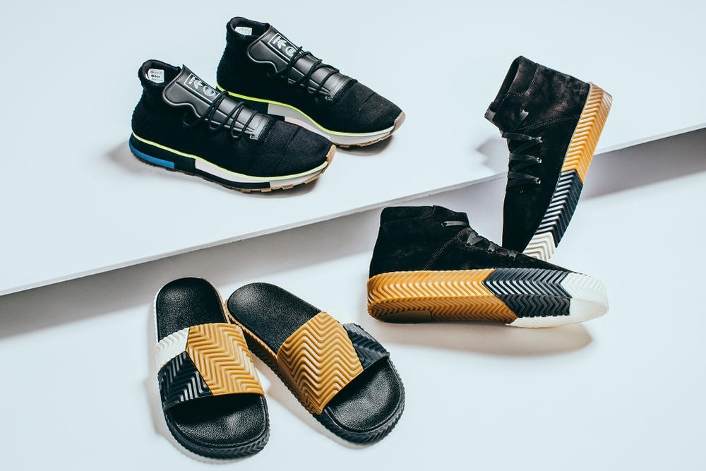 best loved bd8ab b4210 Alexander Wang x adidas Originals Season 2 Shoes Closer Look Detail Sneakers  Slides INVINCIBLE Drop
