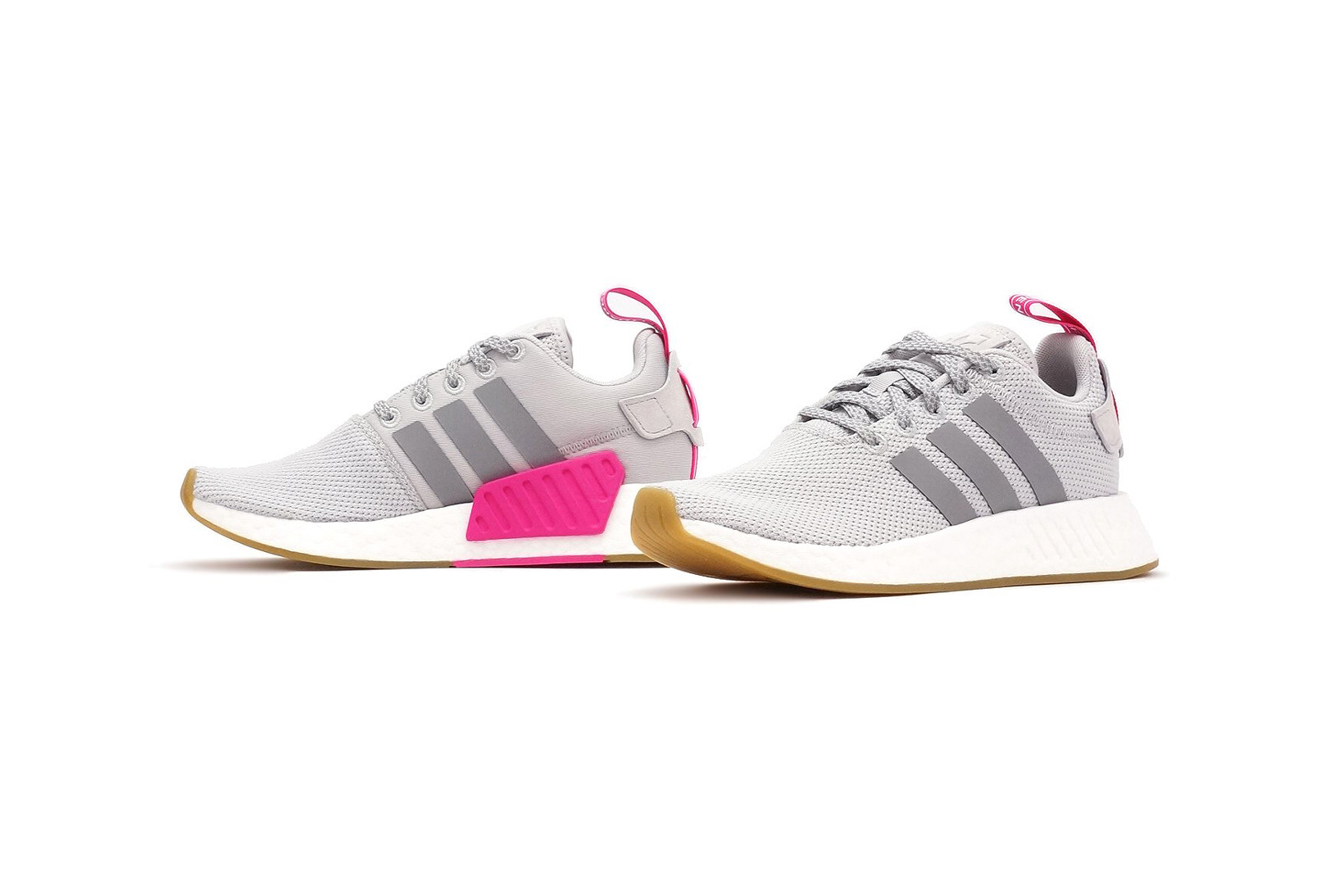 NMD R2 in Grey and Shock Pink