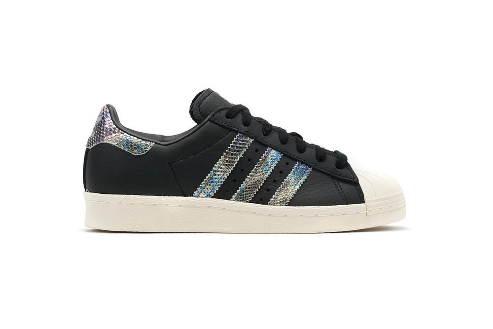 adidas Originals Superstar 80s White Black Iridescent